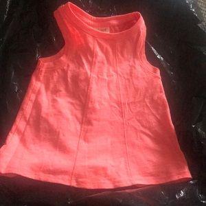 Neon orange summer tank for toddler girl worn once
